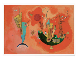 Premium poster  With and against - Wassily Kandinsky
