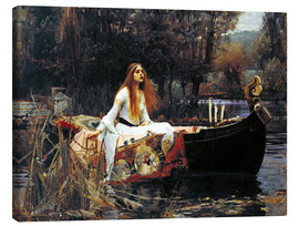 Canvas  The Lady of Shalott - John William Waterhouse