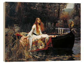 Wood print  The Lady of Shalott - John William Waterhouse