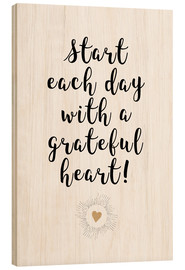 Wood print  Grateful heart - Ohkimiko