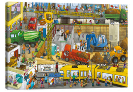 Canvas print  Construction site in the city - Wimmelbuchverlag