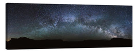 Canvas print  Panoramic of the Milky Way arch, United States - Matteo Colombo