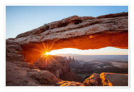 Premium poster Sunrise at Mesa Arch, Canyonlands National Park, Utah, USA