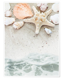 Premium poster  Sea Beach with starfish