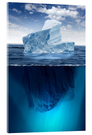 Acrylic glass  Iceberg in the ocean