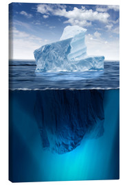 Canvas print  Iceberg in the ocean
