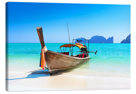 Canvas print  Long boat in Thailand