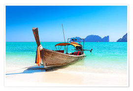 Premium poster  Long boat in Thailand