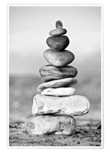 Premium poster Pebble tower
