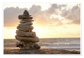 Premium poster Little tower of pebbles