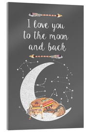 Acrylic print  I love you to the moon and back - GreenNest