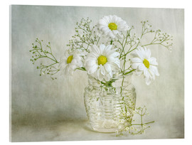 Acrylic print  Still life with Chrysanthemums - Mandy Disher