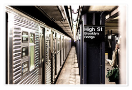 Premium poster  New York City Subway, High Street, Brooklyn - Sascha Kilmer