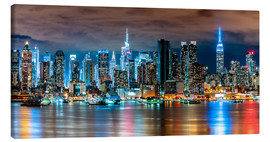 Canvas  Midtown Skyline by Night, New York - Sascha Kilmer