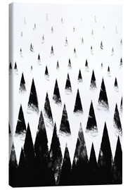 Canvas print  Black mountain peaks - Robert Farkas