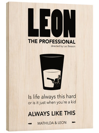 Wood print  Leon the Professional - dear dear