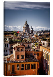 Canvas  Over the roofs of Rome, Italy - Sören Bartosch