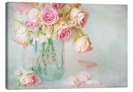 Canvas print  lovely pink roses - Lizzy Pe