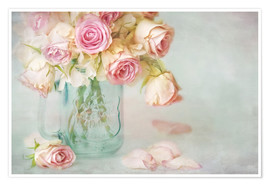 Premium poster lovely pink roses
