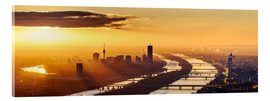 Acrylic glass  Sunrise above Vienna - Benjamin Butschell