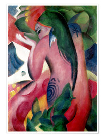 Premium poster  Red woman - Franz Marc