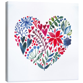 Canvas print  flowery heart