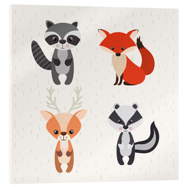 Acrylic print  Forest animals - Kidz Collection