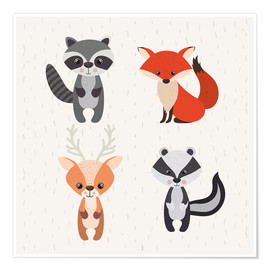 Premium poster  Forest animals - Kidz Collection