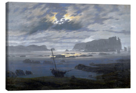 Canvas  Nordic sea in the moonlight - Caspar David Friedrich