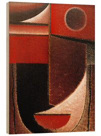 Wood print  Abstract Head: Red light - Alexej von Jawlensky
