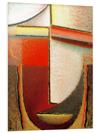 Foam board print  Abstract Head: Evening - Alexej von Jawlensky
