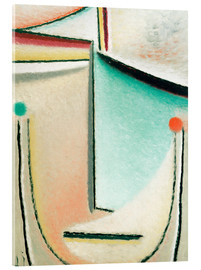 Acrylic print  Abstract Head: Pink Light Blue - Alexej von Jawlensky
