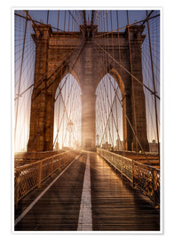 Premium poster Brooklyn Bridge NYC