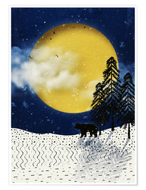 Premium poster winter moon