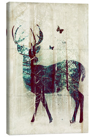 Canvas print  Deer in the Wild - Sybille Sterk