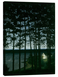 Canvas print  Fisherman's cottage - Harald Oscar Sohlberg