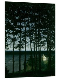 Foam board print  Fisherman's cottage - Harald Oscar Sohlberg