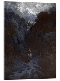 Acrylic print  Sir Lancelot Approaching the Castle of Astolat - Gustave Doré