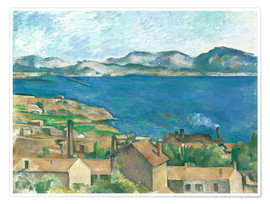 Premium poster The Bay of Marseille, Seen from L'Estaque