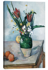 Canvas  The Vase of Tulips - Paul Cézanne