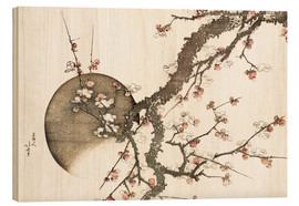 Wood print  Plum blossom and the moon - Katsushika Hokusai