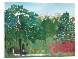 Acrylic print  The waterfall - Henri Rousseau