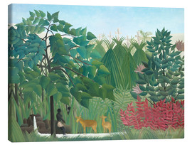 Canvas print  The Waterfall - Henri Rousseau