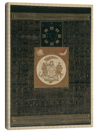 Canvas print  Zhenwu with the Eight Trigrams, the Northern Dipper, and Talismans, Qing dynasty - Chinese School