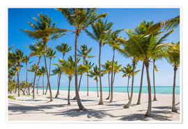 Premium poster  Juanillo Beach, Cap Cana, Punta Cana, Dominican Republic, West Indies, Caribbean, Central America - Jane Sweeney