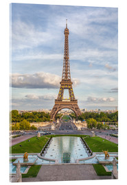 Acrylic print  Eiffel Tower and Europe - Roberto Moiola
