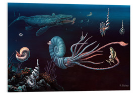 Forex  Cretaceous marine animals, artwork - Richard Bizley
