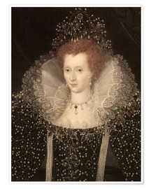 Premium poster 1570 Queen Elizabeth I of England and Ire