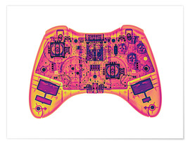 Premium poster  Computer game controller, X-ray - Gustoimages