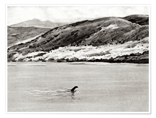 Premium poster Nessi, the monster of Loch Ness